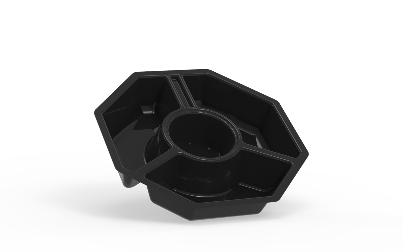 Barquette operculable noire 3 compartiments