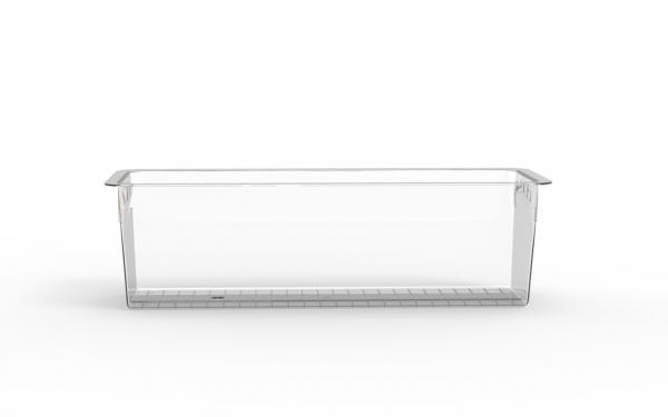 Terrine lingot operculable transparente 1600 cm3