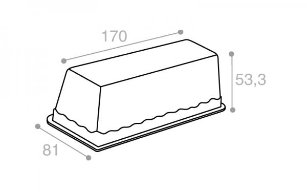 Schéma Terrine lingot operculable transparente 410 cm3
