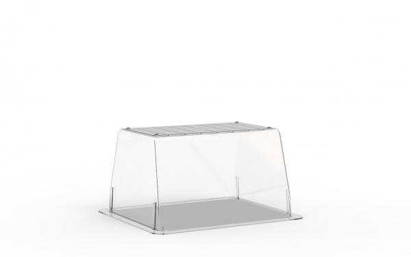 Terrine lingot operculable transparente 420 cm3