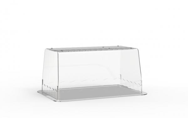 Terrine lingot operculable transparente 1000 cm3