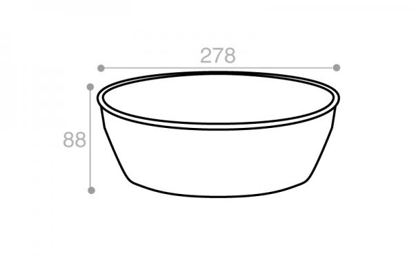 Schéma Terrine operculable crème tachetée 4100 cm3