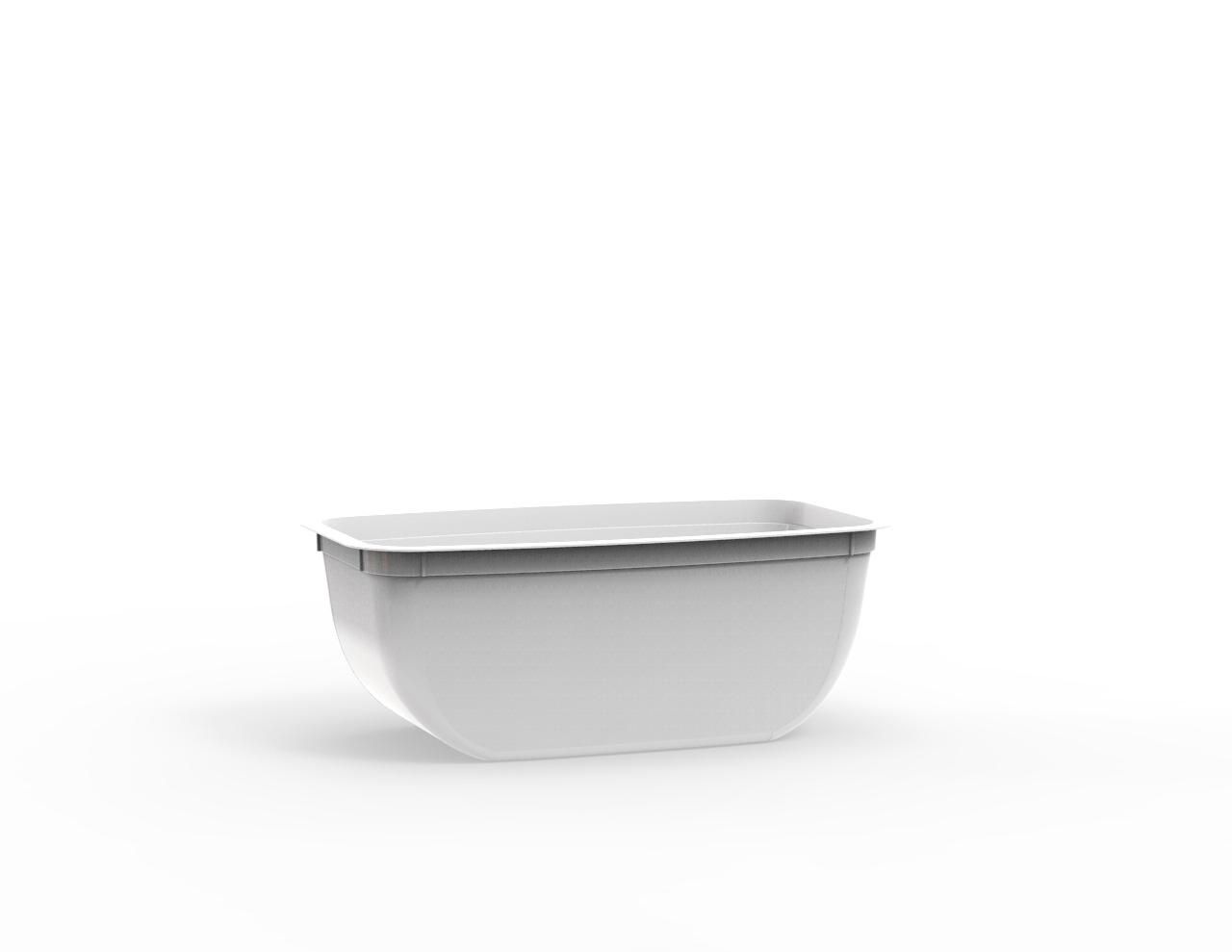 Beurrier operculable blanc 310 cm3