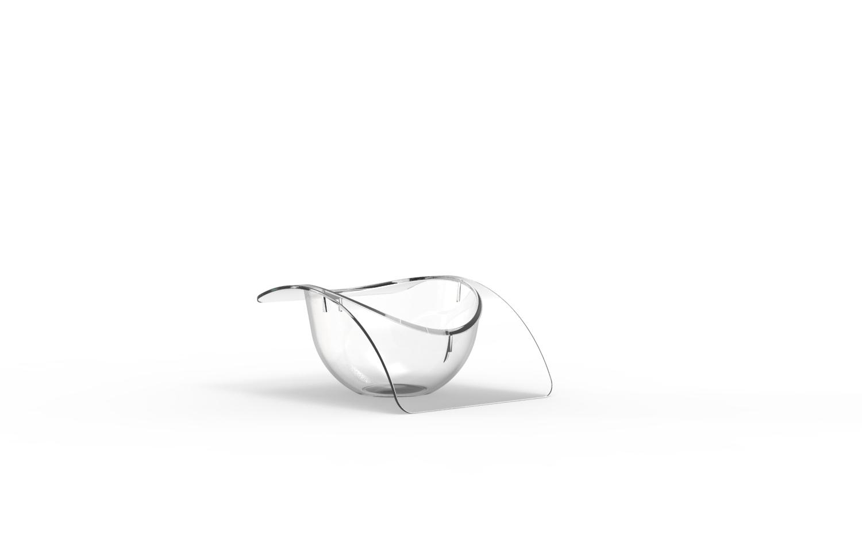 Verrine Célestine transparente brillante 40 cm3