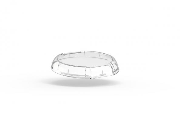Couvercle dôme transparent