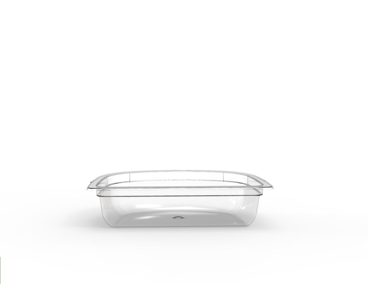 Barquette demi-lune operculable transparente 230 cm3