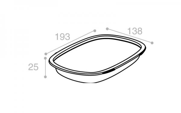 Schéma Barquette Euroduo operculable transparente 420 cm3