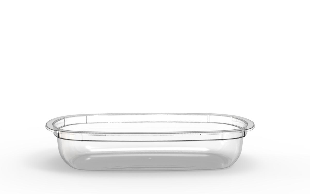 Barquette Euroduo operculable transparente 600 cm3