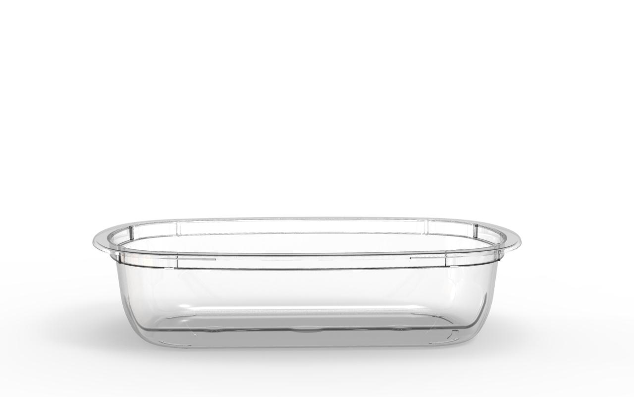 Barquette Euroduo operculable transparente 700 cm3