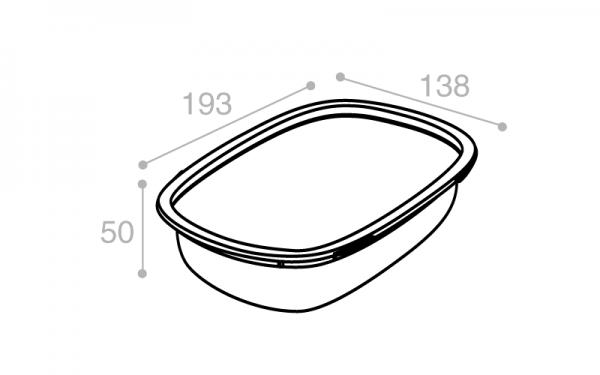 Schéma Barquette Euroduo operculable transparente 800 cm3