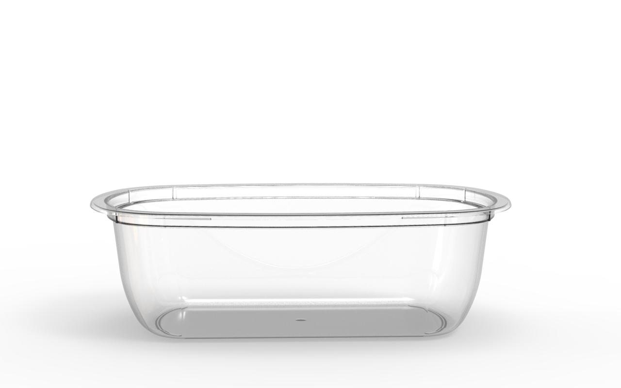 Barquette Euroduo operculable transparente 900 cm3