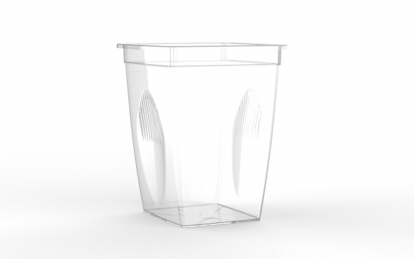 Box snacking operculable transparente 650 cm3