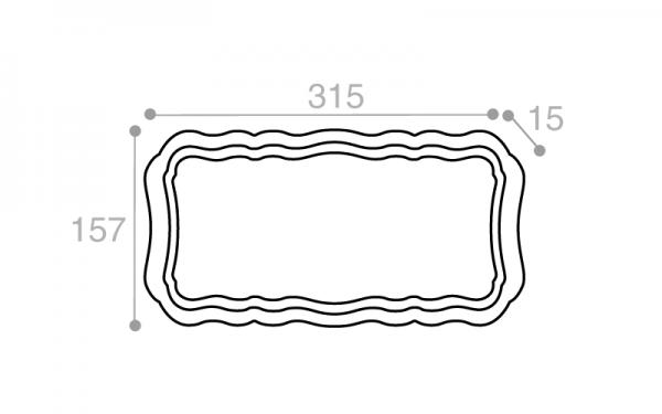 Schéma Plateau crème tacheté 315 mm