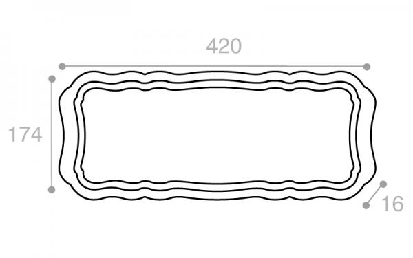 Schéma Plateau crème tacheté 420 mm