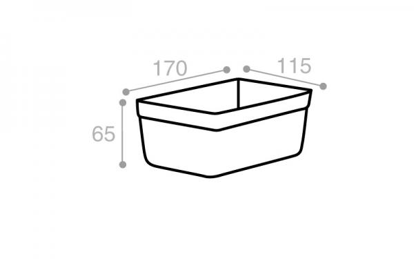 Schéma Moule rectangulaire crème tacheté 1100 cm3