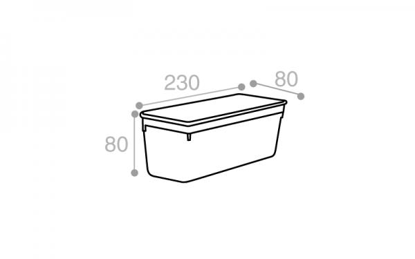Schéma Moule rectangulaire blanc 1400 cm3