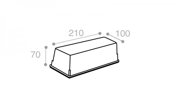 Schéma Terrine operculable naturelle 1000 cm3