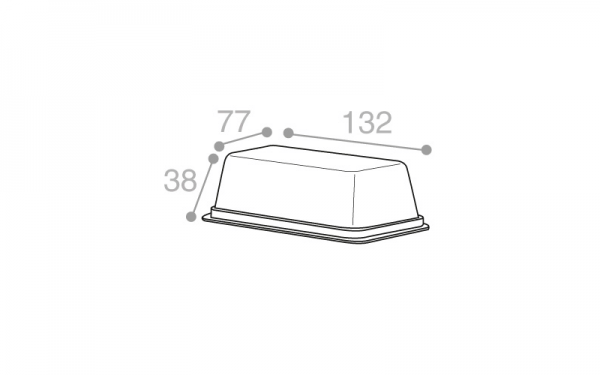 Schéma Barquette tartinable operculable transparente 210 cm3