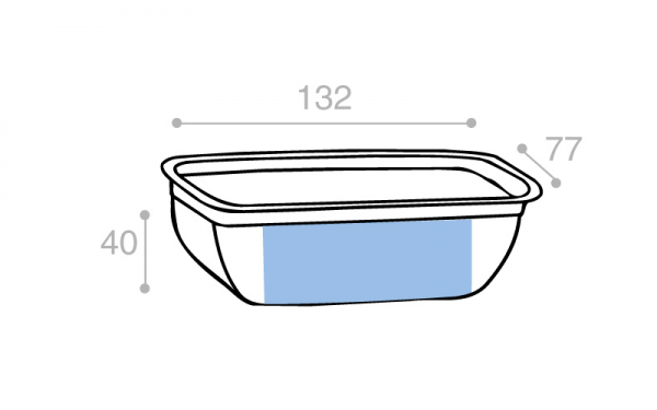 Schéma Barquette tartinable operculable transparente 250 cm3