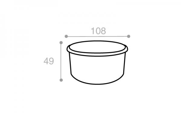 Schéma Boîte réutilisable blanche 350 cm3