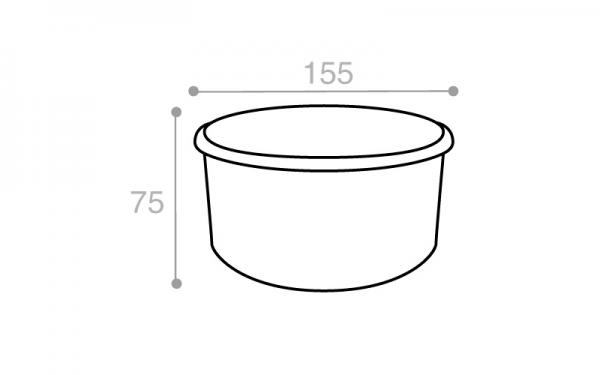 Schéma Boîte réutilisable blanche 1150 cm3