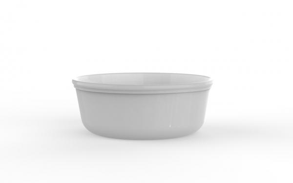 Boîte réutilisable blanche 2000 cm3