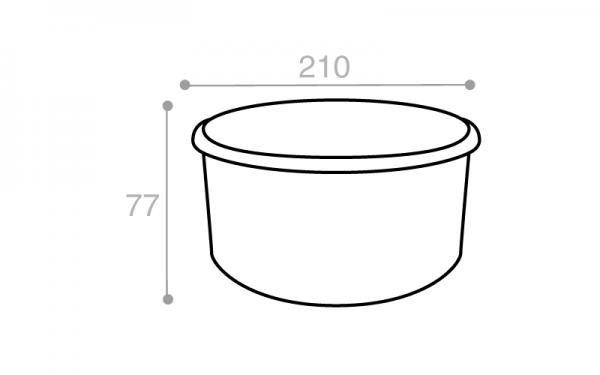 Schéma Boîte réutilisable blanche 2000 cm3