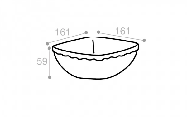 Schéma Terrine blanche imitation faience 1050 cm3