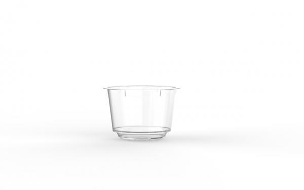 Barquette operculable transparente avec languette de démoulabilité 90 cm3