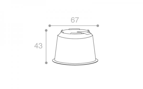 Schéma Barquette operculable transparente avec languette de démoulabilité 90 cm3