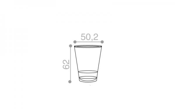 Schéma Verrine operculable transparente brillante 66 cm3