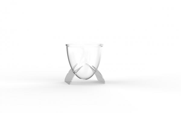 Verrine Séraphine operculable transparente 66 cm3