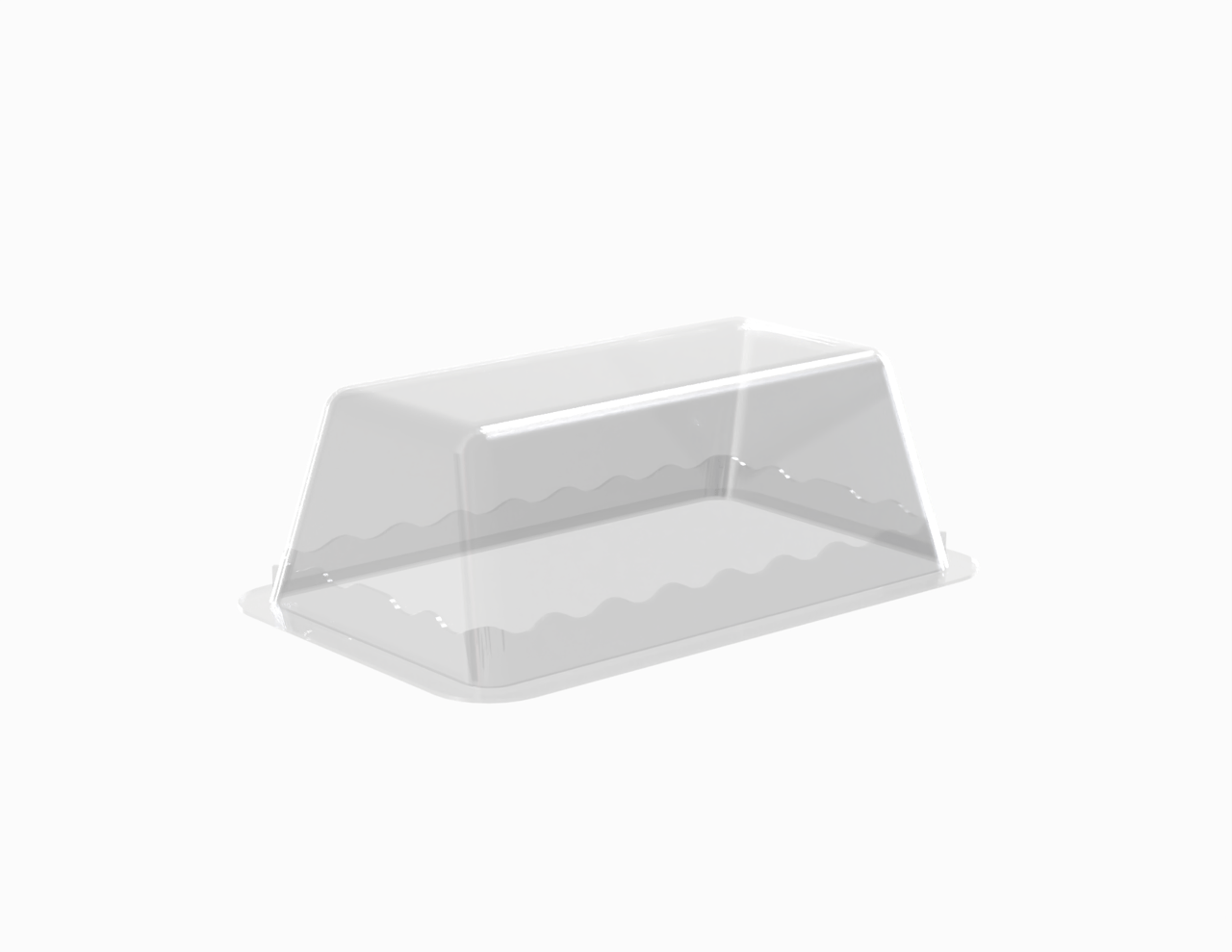 Terrine lingot operculable transparente 210 cm3