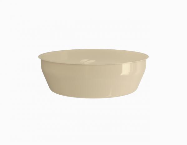 Terrine operculable crème tachetée 4100 cm3