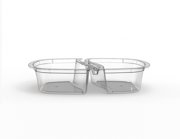 Barquette Euroduo operculable sécable 2x260 cm3