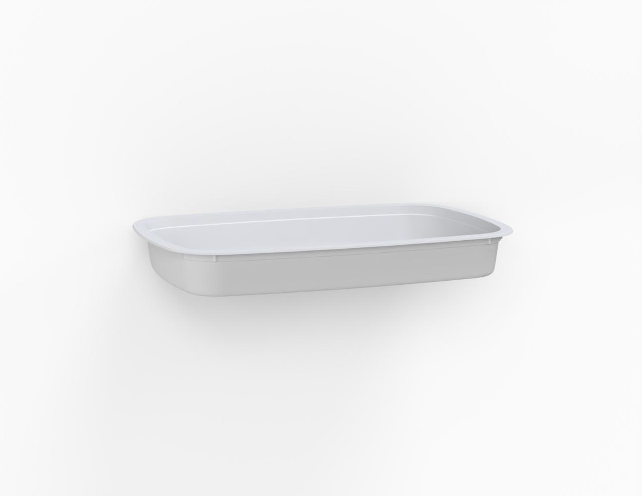 Barquette Euroduo operculable blanche 1280 cm3