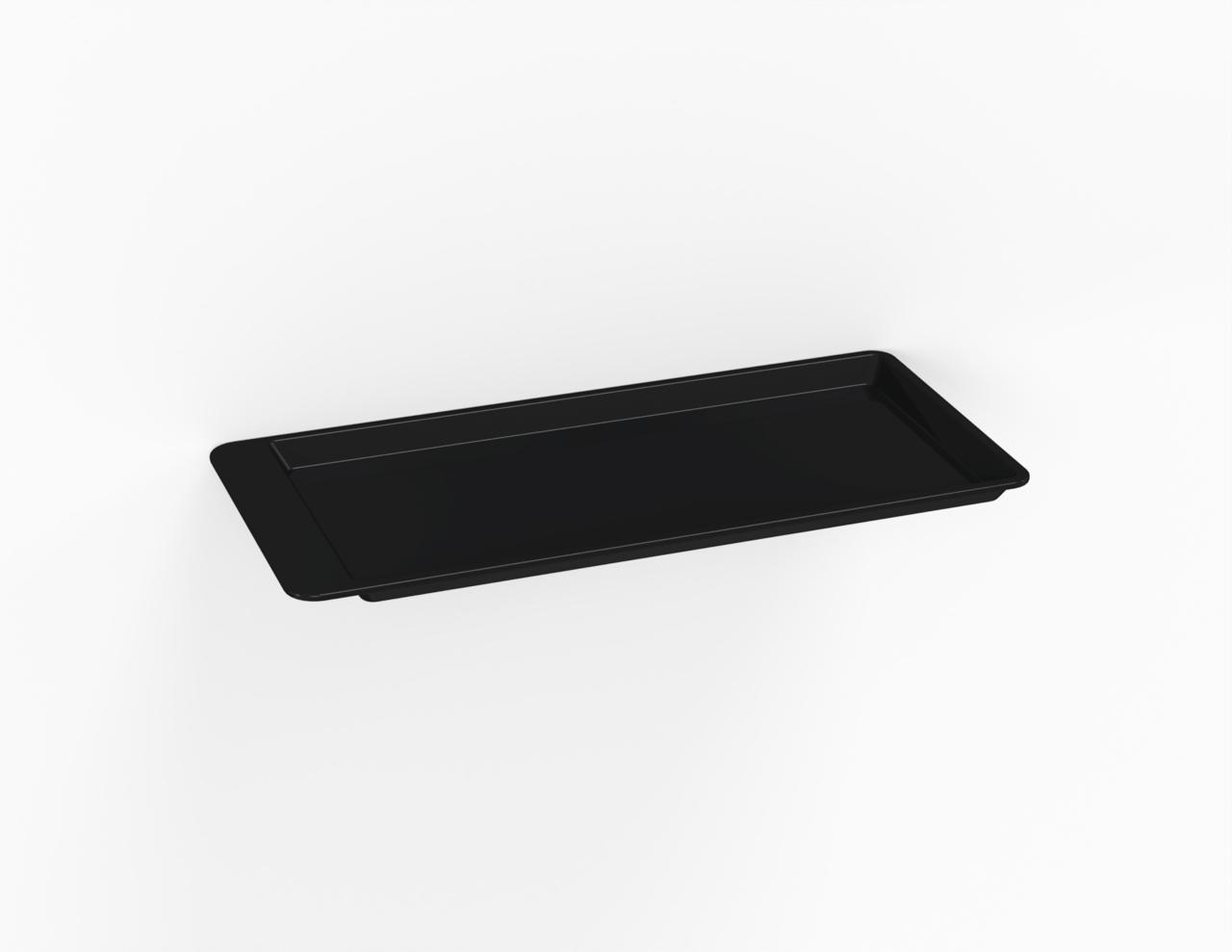 Plateau noir 290 mm avec casquette