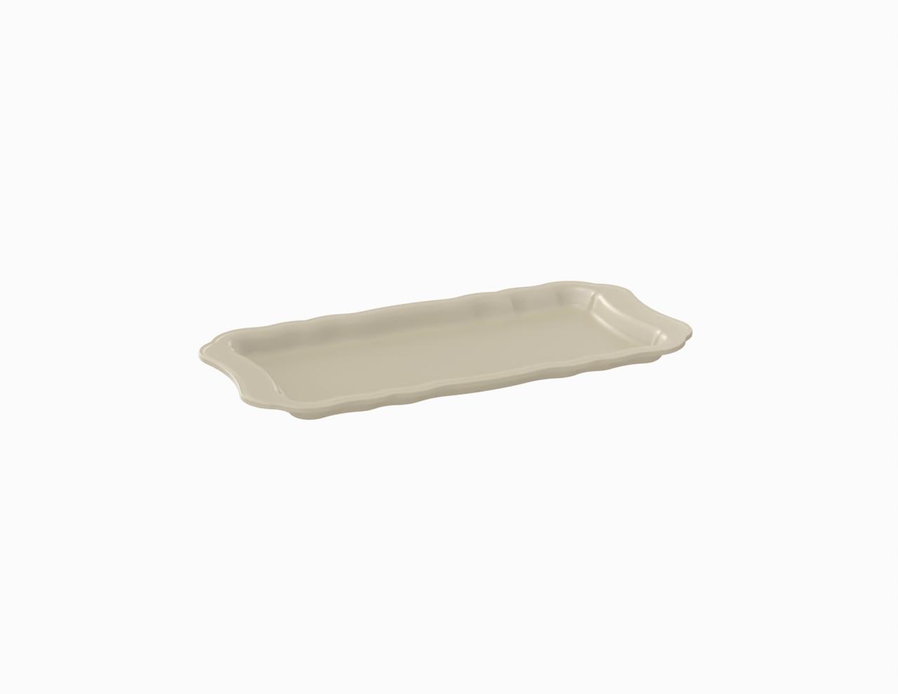 Plateau crème tacheté 215 mm