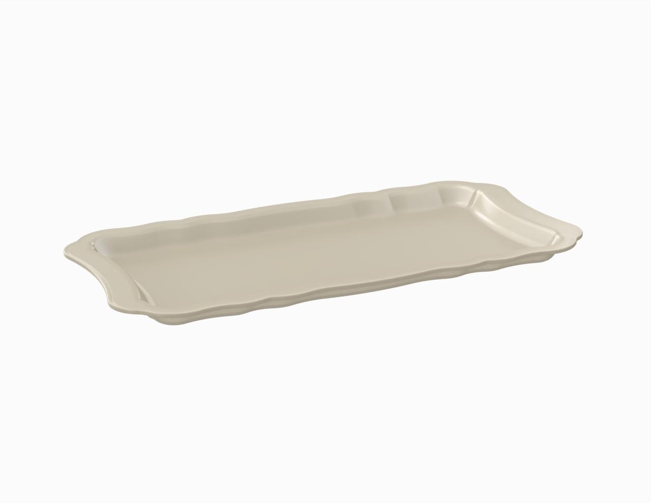 Plateau crème tacheté 315 mm