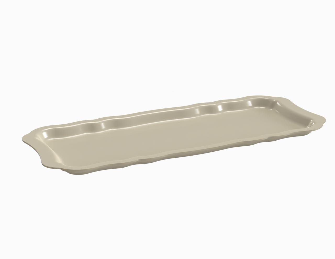 Plateau crème tacheté 420 mm