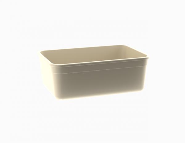 Moule rectangulaire crème tacheté 1100 cm3