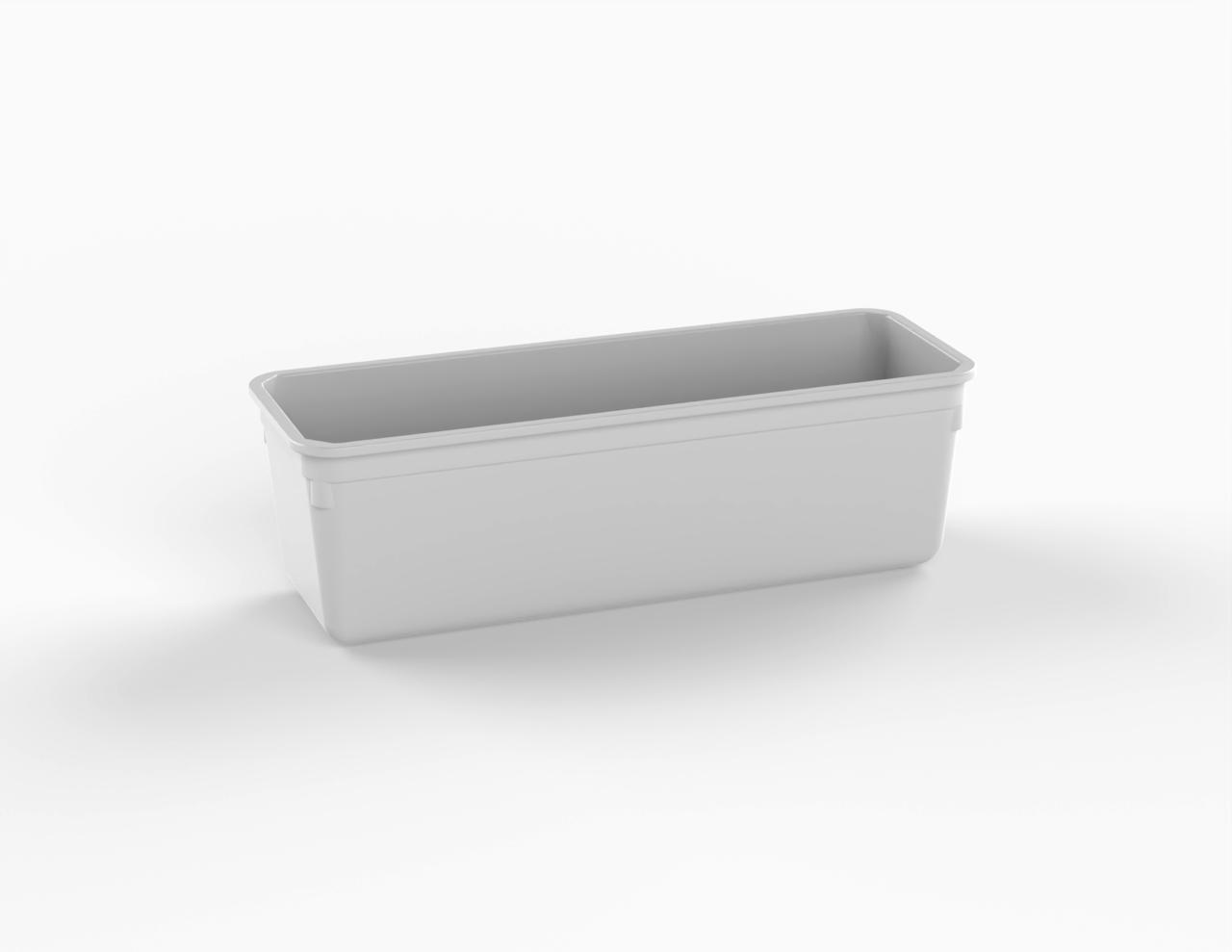Moule rectangulaire blanc 1400 cm3