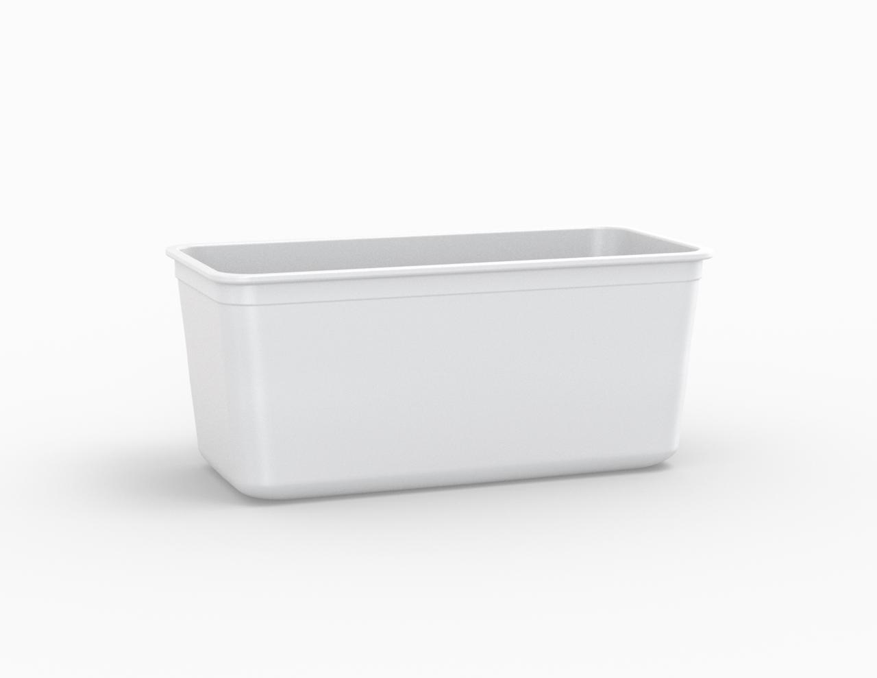 Moule rectangulaire blanc 2650 cm3