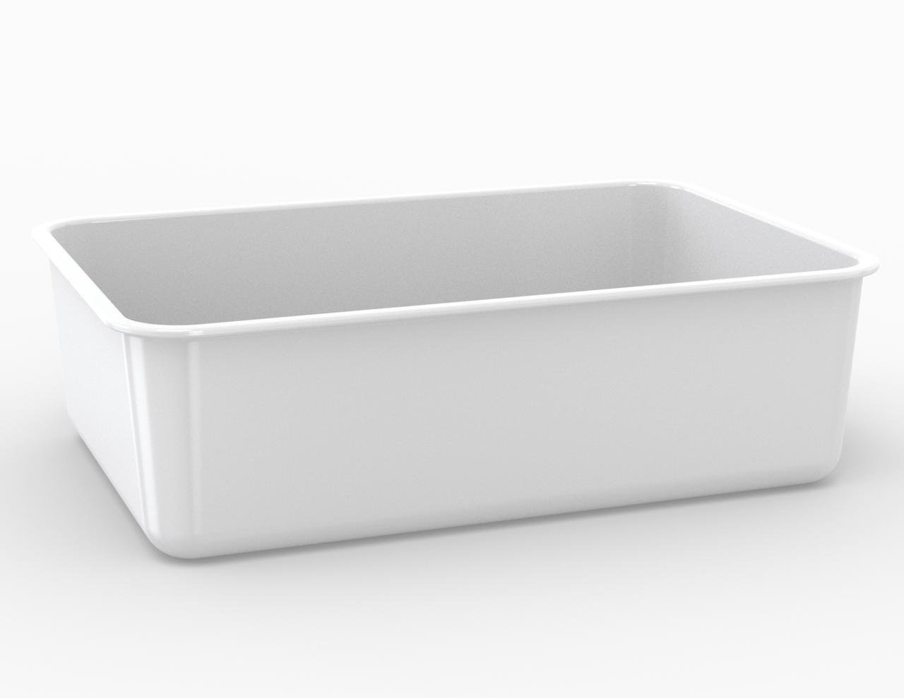 Moule rectangulaire blanc 7500 cm3