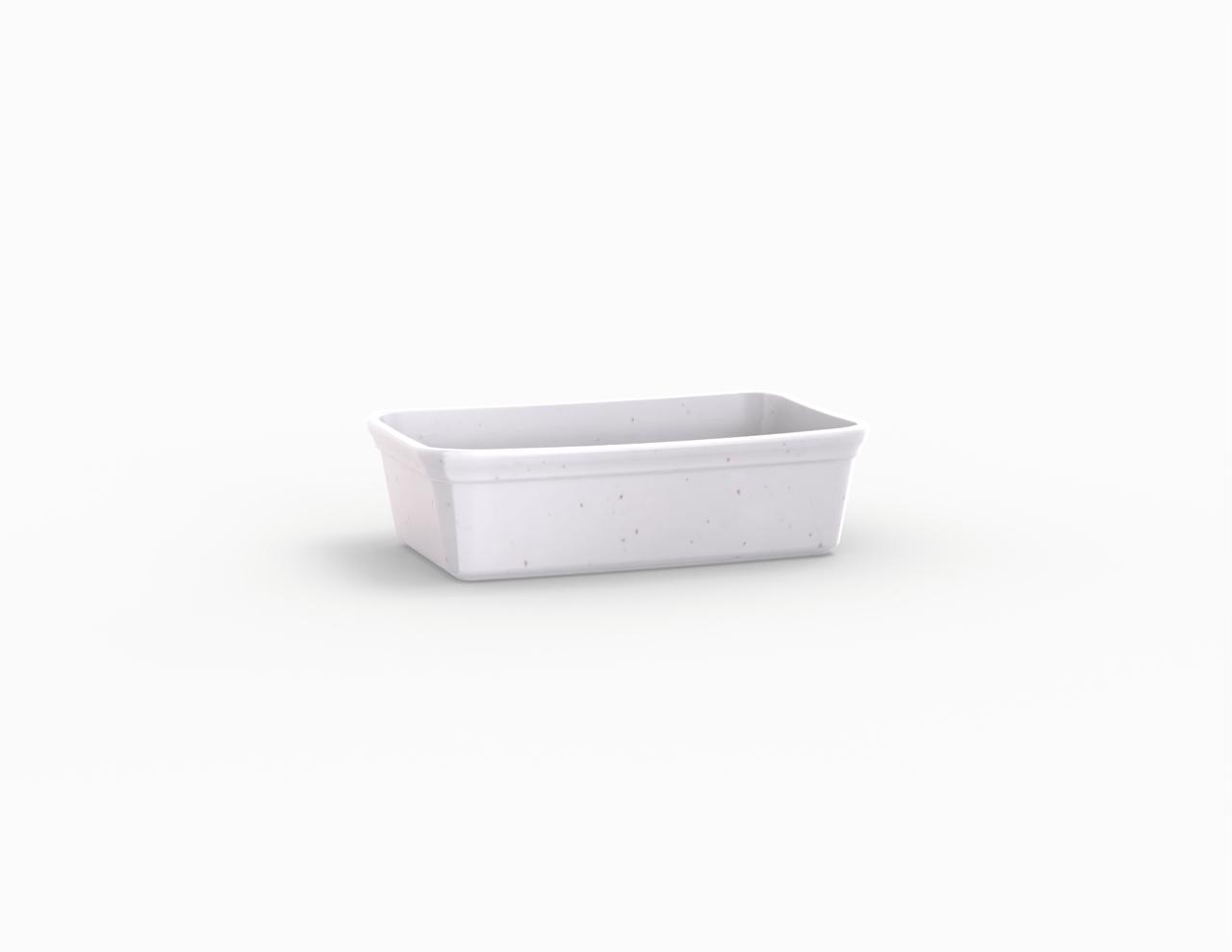 Terrine blanche tachetée 250 cm3