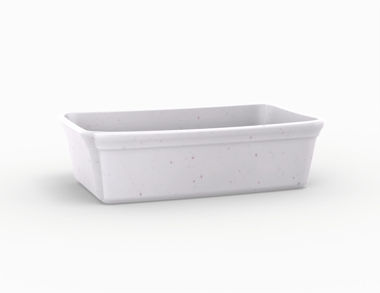 Terrine blanche tachetée 600 cm3