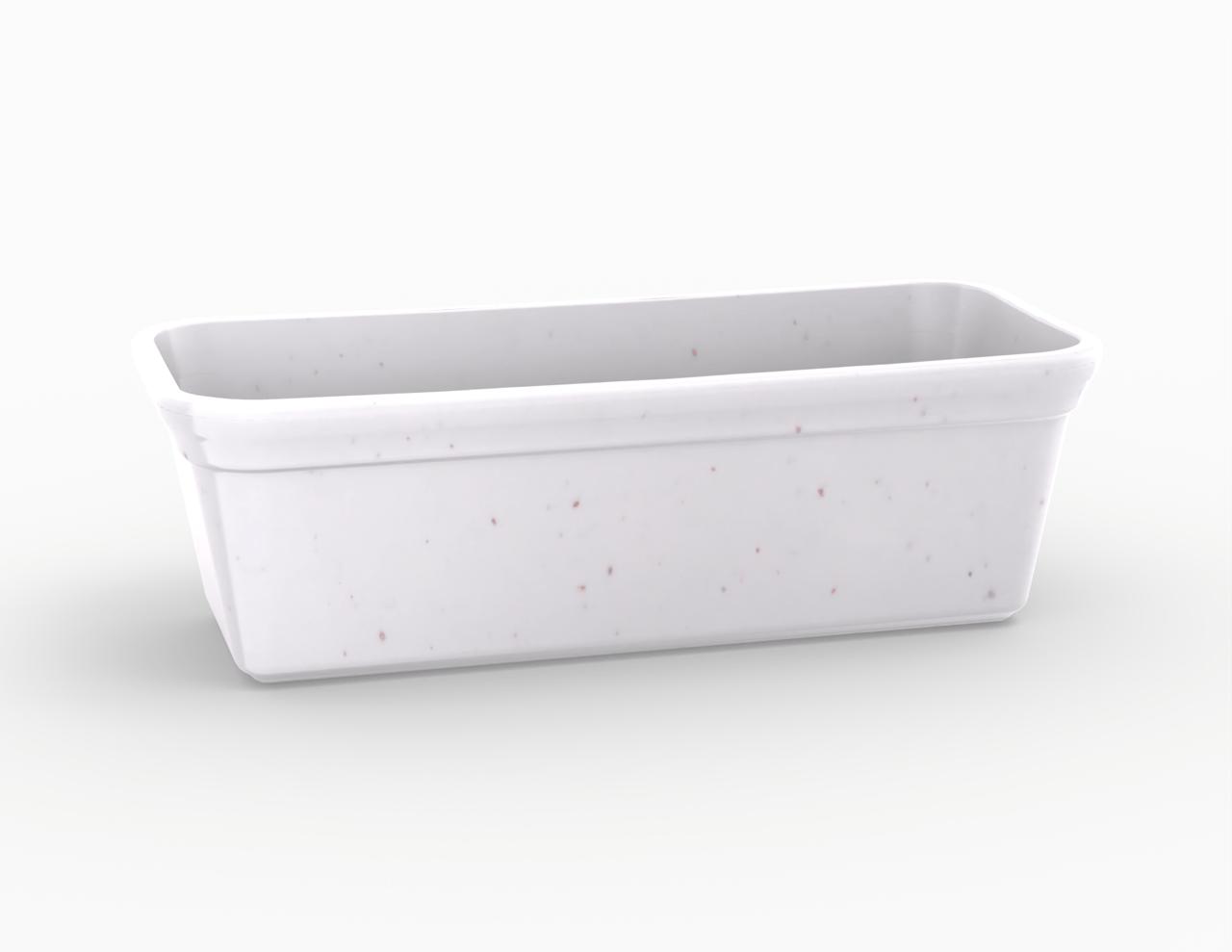 Terrine blanche tachetée 1600 cm3
