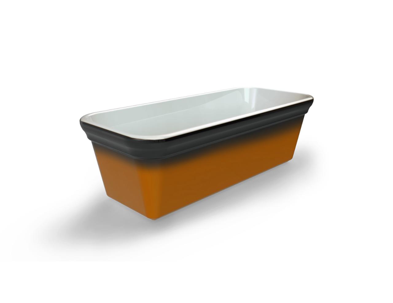 Terrine blanche tachetée/ambrée 1600 cm3