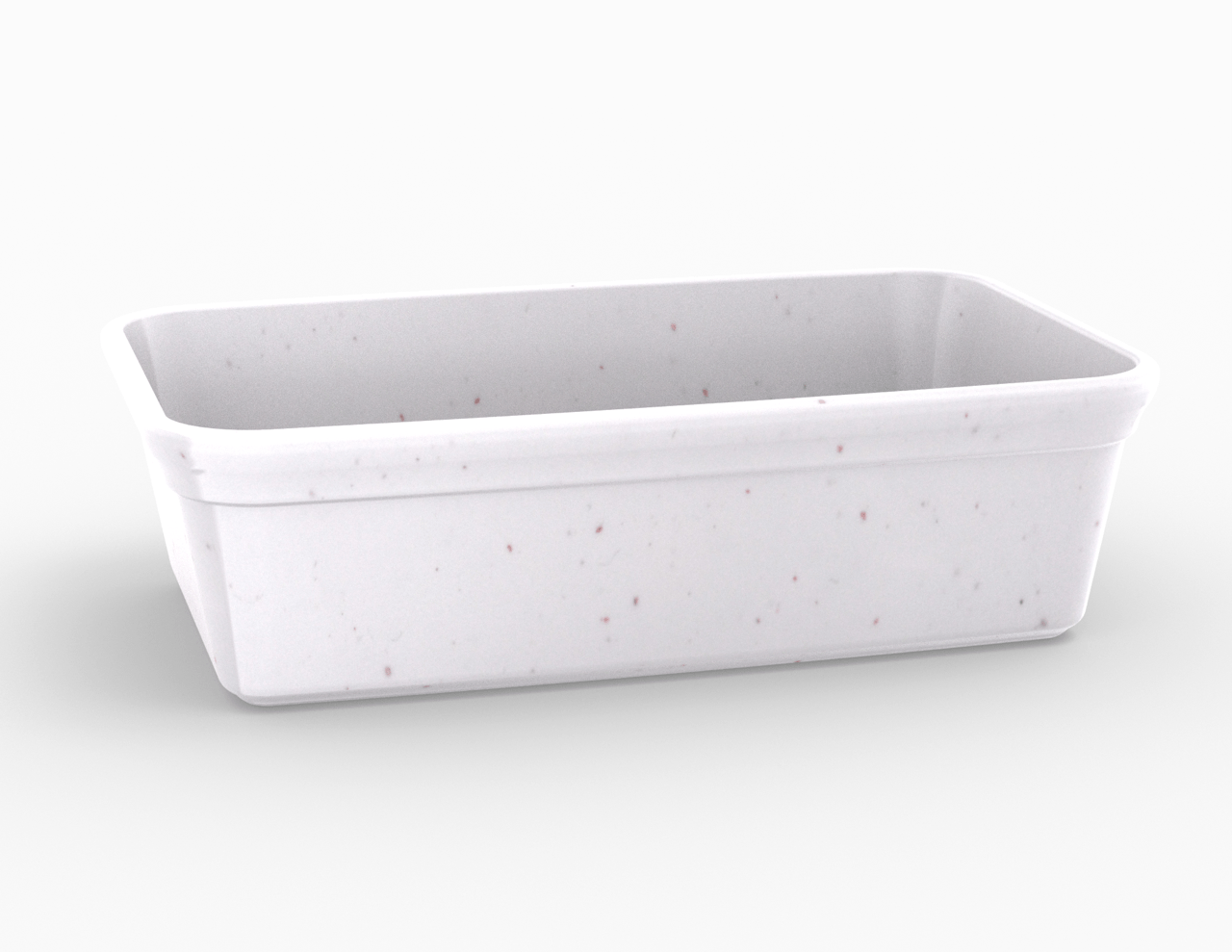 Terrine blanche tachetée 2550 cm3