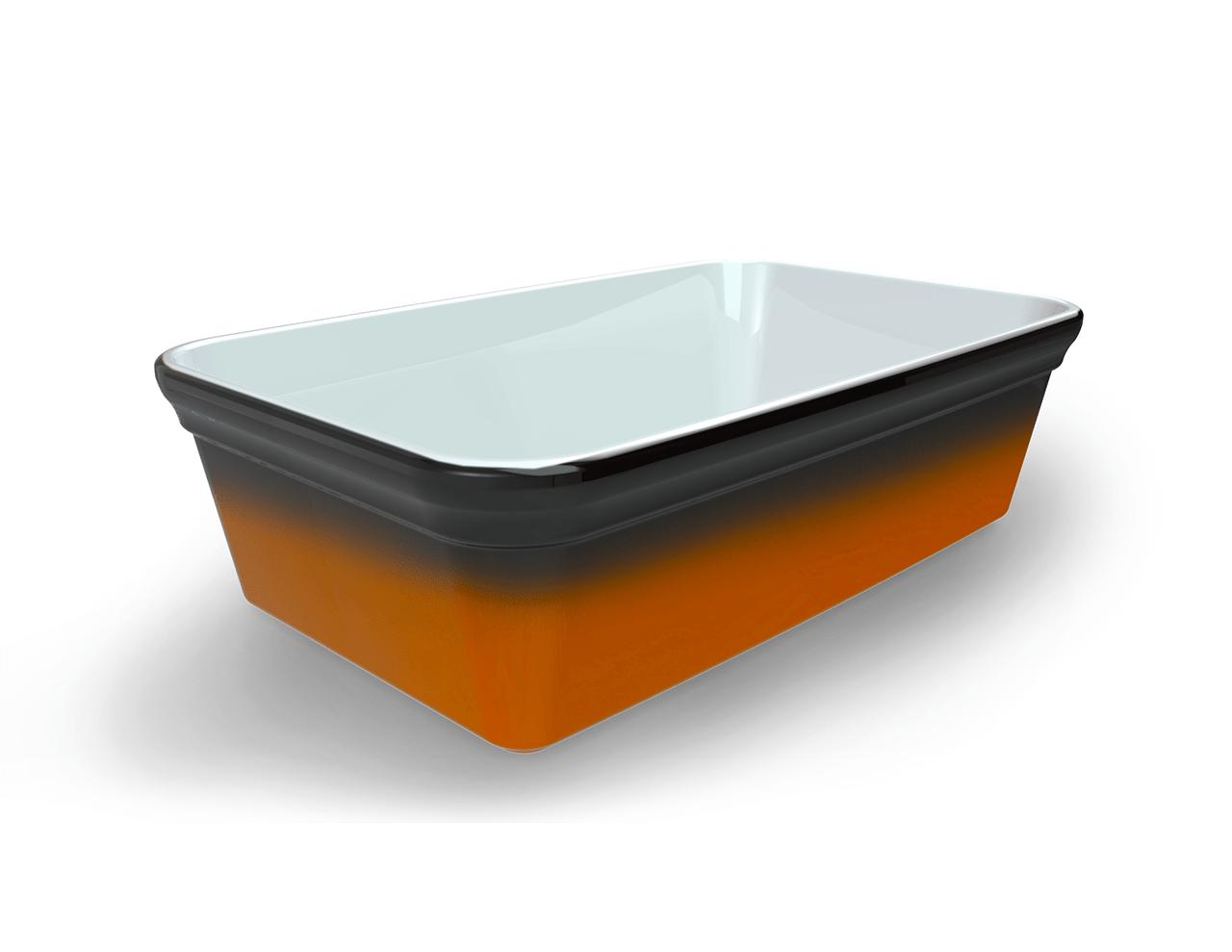 Terrine blanche tachetée/ambrée 2550 cm3